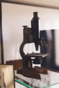 photo of an old microscope | Worsham College of Mortuary Science | outside Chicago, Illinois