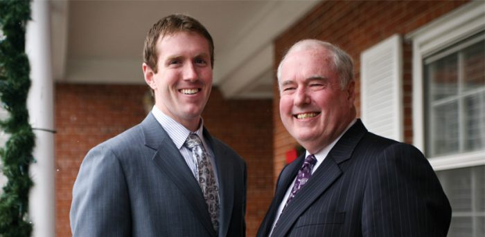 photo of Jay Smith and his father Bob Smith, both graduates of Worsham College of Mortuary Science | Wheeling, Illinois
