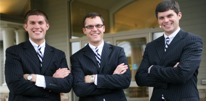 photo of the Sytsema brothers | graduates of Worsham College of Mortuary Science outside Chicago, Illinois